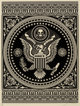 Shepard Fairey (b. 1970) Presidential Seal (Black and Red) (two works), 2007 Screenprint in colors on cream speckled p...