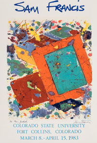 After Sam Francis Sam Francis, exhibition poster, 1982 Offset lithograph in colors on smoothe wove