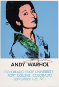 Prints & Multiples, After Andy Warhol . Andy Warhol, exhibition poster, 1981. Screenprint in colors on paper. 35 x 24 inches (88.9 x 61 cm) ...