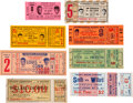 Boxing Collectibles:Memorabilia, 1913-71 Boxing Tickets Lof of 8.... (Total: 8 items)