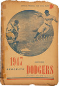 Baseball Collectibles:Programs, 1948 Brooklyn Dodgers Ebbets Field Debut of Roy Campanella Scorecard....