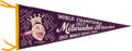 Baseball Collectibles:Others, 1957-58 Milwaukee Braves World Series Pennant....