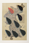 Fine Art - Work on Paper:Print, Kim Tschang-Yeul (b. 1929). Water Drops, 1988. Silkscreen in colors on paper. 37 x 24-1/4 inches (94 x 61.6 cm) (image)...