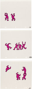 Works on Paper, After Keith Haring . Sesame Street Break-Dancers, three works. Marker on overhead sheet. 11 x 12-1/2 inches (27.9 x 31.8... (Total: 3 Items)