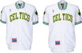 Basketball Collectibles:Others, 1991-92 Reggie Lewis & Brian Shaw Game Worn Boston CelticsWarmup Jackets with Basketball Centennial Patches.... (Total: 2items)