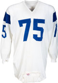 Football Collectibles:Uniforms, 1968 Deacon Jones Game Worn Los Angeles Rams Jersey--Photo Matchedto Three Different Games!...