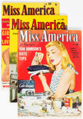 Golden Age (1938-1955):Romance, Miss America Magazine V2#3 and V7#31 and 34 Group (Miss AmericaPublishing/Marvel/Atlas, 1945-50) Condition: Average VG/FN....(Total: 3 Comic Books)