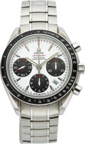 Timepieces:Wristwatch, Omega 40 mm Steel Speedmaster Automatic Chronograph, Box &Papers. ...