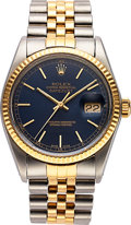 Timepieces:Wristwatch, Rolex Ref. 16013 Gent's Steel & Gold Oyster Perpetual Datejust....