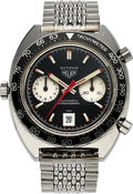 "Timepieces:Wristwatch, Heuer Autavia Ref. 1163 ""Viceroy"" Automatic Chronograph. ..."