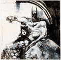 Original Comic Art:Illustrations, Bill Sienkiewicz - Batman and Catwoman Illustration Original Art(2006)....