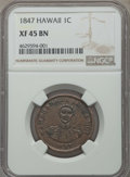 Coins of Hawaii , 1847 1C Hawaii Cent XF45 NGC. NGC Census: (26/293). PCGS Population: (23/415). CDN: $475 Whsle. Bid for problem-free NGC/PC...