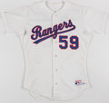 Baseball Collectibles:Uniforms, c. 1990s Roger Pavlik Texas Rangers Team Issued Jersey. ...