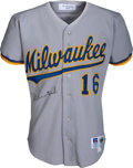 Baseball Collectibles:Uniforms, 1993 Pat Listach Game Worn & Signed Milwaukee Brewers Jersey with Team Letter....