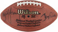 Football Collectibles:Balls, Steve Young & Jerry Rice Dual-Signed Football....