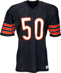 Football Collectibles:Uniforms, 1986 Mike Singletary Authentic Model Chicago Bears Jersey....