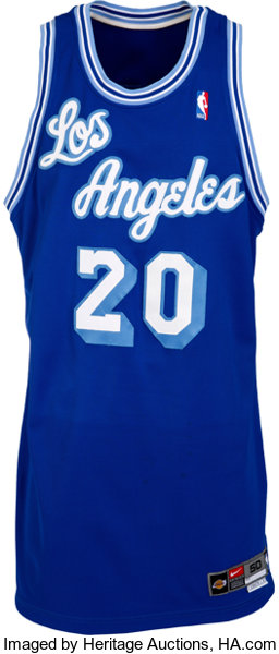 4e2d80ff219 ... Basketball Collectibles:Uniforms, 2003-04 Gary Payton Game Worn Los  Angeles Lakers ThrowbackJersey ...