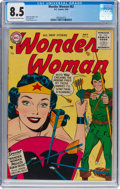Silver Age (1956-1969):Superhero, Wonder Woman #82 (DC, 1956) CGC VF+ 8.5 Off-white to white...
