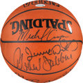 Basketball Collectibles:Balls, 1988 Los Angeles Lakers Team Signed Basketball....