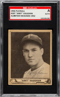 Baseball Collectibles:Others, 1940 Play Ball Signed Arky Vaughan #107. ...