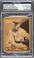 Baseball Collectibles:Others, 1940 Play Ball Signed Casey Stengel #141. ...