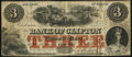 Canadian Currency, Clifton, PC- Bank of Clifton $3 Oct. 1, 1859 Ch. # 125-10-02-04.....