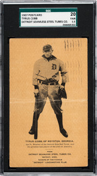 1907 Seamless Steel Tubes Co. Ty Cobb SGC 20 Fair 1.5 - New to The Hobby!