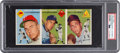 Baseball Cards:Singles (1950-1959), 1954 Topps Baseball Salesman Sample 3-Card Panel With Duke SniderPSA Authentic. ...