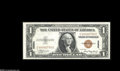 Small Size:World War II Emergency Notes, Fr. 2300 $1 1935A Hawaii Silver Certificate. Choice Crisp Uncirculated. An attractive Hawaii note with fancy low serial num...