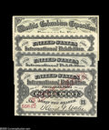 Fractional Currency:Miscellaneous, Four Tickets. Three are for the 1876 Centennial Exhibition in Philadelphia, PA. Each good for one admission between May 10, ... (4 items)