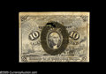 Fractional Currency:Error Notes, Fr. 1249 10¢ Second Issue Very Fine, Damaged. Although this Fr.1249 is on 2-ply paper, it is not the normal fiber paper, bu...