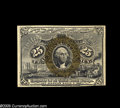 Fractional Currency:Error Notes, Fr. 1286 Milton 2R25.3b 25¢ Second Issue Choice About New. Thisnote has a minor reversed back-to-back offset from another s...