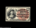 Fractional Currency:Courtesy Autographs , Fr. 1258 Milton 4R10.3c 10¢ Fourth Issue Courtesy Autograph Choice New. The light grey signature of John Burke appears above...