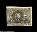 Fractional Currency:Courtesy Autographs , Fr. 1244 Milton 2R10.1 10¢ Second Issue Courtesy Autograph Choice New. A Gem note but for the centering with the bold autogr...