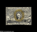 Fractional Currency:Courtesy Autographs , Fr. 1314SP Milton 2S50F.1b and 2S50R.1c 50¢ Second Issue Narrow Margin Pair Courtesy Autographed New. Both the face and the ... (2 items)