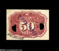Fractional Currency:Courtesy Autographs , Milton 2E50R.3g 50¢ Second Issue Experimental Courtesy Autograph Gem New. This simply lovely, bright red experimental bears ...