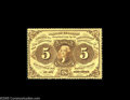 Fractional Currency:First Issue, Fr. 1228 Milton 1R5.3 5¢ First Issue Very Choice New. A super original note, with excellent perforations all the way around ...