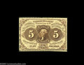 Fractional Currency:First Issue, Fr. 1229 Milton 1R5.2 5¢ First Issue Very Choice New. There are full strips of margin outside of the perforations at the lef...