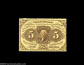 Fractional Currency:First Issue, Fr. 1229 Milton 1R5.2 5¢ First Issue Choice New. Deeply perforated all around, crackling fresh and beautifully original. A p...