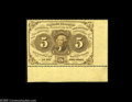 Fractional Currency:First Issue, Fr. 1229 Milton 1R5.2g 5¢ First Issue Extremely Fine-About New. Anextremely rare variety, perforated only horizontally. In ...