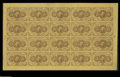 Fractional Currency:First Issue, Fr. 1230 5¢ First Issue Full Sheet of Twenty Gem New. A pristinesheet with perfect color and no problems save for a few tri...