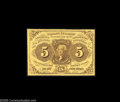 Fractional Currency:First Issue, Fr. 1231 Milton 1R5.1 5¢ First Issue Very Choice New. Close to the full Gem grade, and this is the scarcest of the four Five...