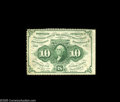 Fractional Currency:First Issue, Fr. 1241 Milton 1R10.2a 10¢ First Issue Choice New. The perforations are a bit irregular, and there are none at the right wh...