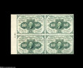 Fractional Currency:First Issue, Fr. 1242 10¢ First Issue Block Of Four Gem New. Four perfect piecesin absolutely pristine condition. They have their full s...