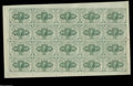 Fractional Currency:First Issue, Fr. 1242 Milton 1R10.4c 10¢ First Issue Full Sheet of Twenty Choice New. The sheet has a few light corner folds but no folds...