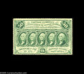 Fractional Currency:First Issue, Fr. 1310a Milton 1R50.3d 50¢ First Issue Perforated 14 Choice New.Perforated 14 refers to the number of perforations per 20...