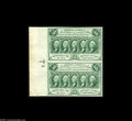Fractional Currency:First Issue, Fr. 1312 Milton 1R50.4 50¢ First Issue Vertical Pair Gem New. Abeautiful pair with the full sheet selvage at the left. Face...