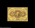 Fractional Currency:First Issue, Fr. 1228(a?) Milton ? 5¢ First Issue Perforated 16 Choice New. This and the 10¢ and 25¢ below are a three-note set that was ...