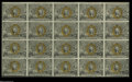 Fractional Currency:Second Issue, Fr. 1232 Milton 2R5.1g 5¢ Second Issue Full Sheet of Twenty Choice About New. One of the nicest looking second issue sheets ...