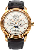Timepieces:Wristwatch, Carl F Bucherer, Archimedes, 18k Perpetual Calendar Moonphase, Circa. ...